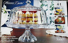 Exquisite Multi-Functional 4-in-1 Crystal Cake Dome, Chip Dip, Punch, Salad Bowl