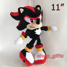 Sonic Shadow the Hedgehog Soft Toy Stuffed Animal Teddy Doll Black and Red 11""