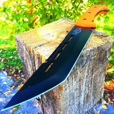 "14"" FULL TANG BOWIE RAMBO MACHETE TACTICAL SURVIVAL HUNTING FIXED BLADE KNIFE-m"