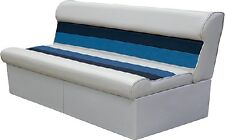 New Deluxe Pontoon Furniture wise Seating 8wd106-1011 Long Bench Grey/Navy/Blue