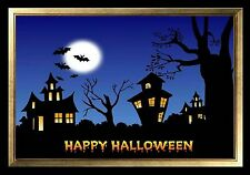 MAGNET HALLOWEEN Pumpkins Haunted Houses Bats Full Moon Happy Halloween