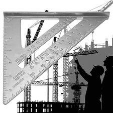 "7"" Metal Speed Square Protractor Miter Framing Measurement Ruler For Carpenter"