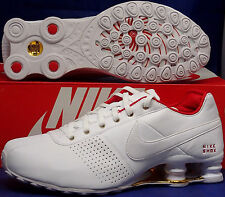 NIB NIKE SHOX DELIVER WHITE PINK GOLD ATHLETIC RUNNING SHOES WOMENS Size 6