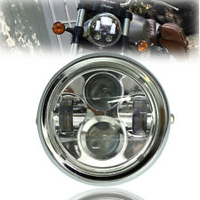 "6.5"" Motorcycle Chrome Projector Daymaker HID LED Light Bulb Headlight Fr Harley"