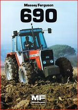 French Original  Prospect  Tracteur Tractor Massey Ferguson MF 690 _  2 Pages