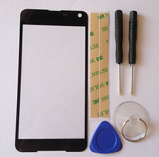 Outer Screen Lens Glass Digitizer Replace For Nokia Microsoft Lumia 650 Black