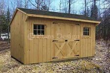 8' x 14' Utility Saltbox Roof Style Shed Plans #70814