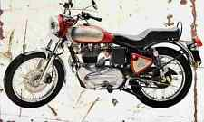 RoyalEnfield Bullet Electra5S 2007 Aged Vintage Photo Print A4 Retro poster