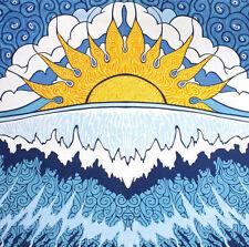 Handmade 100% Cotton Sun Wave Surf Tapestry Tablecloth Spread 60x90 Dorm Beach