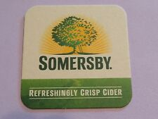 Fun Beer Collectible Coaster  *  Carlsberg SOMERSBY Crisp Apple Cider    DENMARK