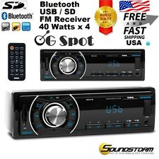 Car Stereo In-Dash Single-Din Receiver FM/USB/SD/MP3/AUX/Bluetooth Radio Player