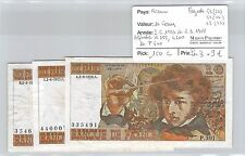 3 BILLETS  FRANCE - 10 FRANCS - 2-6-1977 2-3-1978 U299 L300 P301
