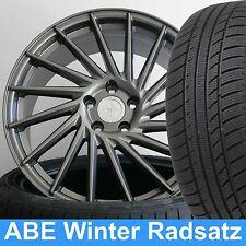 """19"""" ABE KT17 Huricane Grau Winterradsatz 235/35 für Audi A4 S4 Typ B8, B81"""
