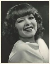 RARE WILD JAZZ AGE WINKING SILVER SCREEN IT GIRL CLARA BOW FOX FILMS 11X14 PHOTO