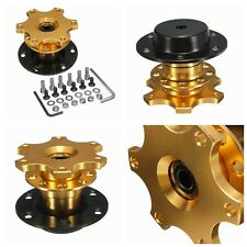 SALE! GOLD SNAP OFF QUICK RELEASE STEERING WHEEL BOSS KIT HUB RALLY RACING