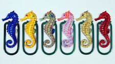 Wholesale Pack Hand Painted Assorted Seahorse Bookmarks (Set of 12) F073S