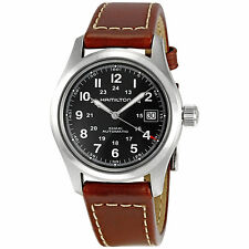 Hamilton Khaki Swiss Automatic Black Dial Men's Analog Watch H70455533