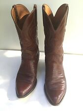 lucchese lizard cowboy boots  9 ee