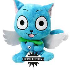 FAIRY TAIL HAPPY PELUCHE 30 CM PUPAZZO natsu Dragneel gatto blu erza plush doll