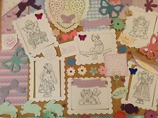 Patchwork polly themed card making kit. craft clear Out inc stamped images