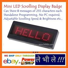 LED Programmable Scrolling Name Message Board Badge Tag Digital Display English