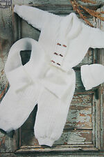 Baby's Cardigan Tousers Scarf and Bobble Hat Knitting Pattern