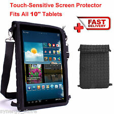 "TABLET BAG With Shoulder Strap Carry Case Sling Fits up to 10.1"" Inch Notebook"