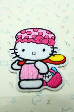 1 Pcs Bathe Hello Kitty sewing notions patch iron on embroidered appliques