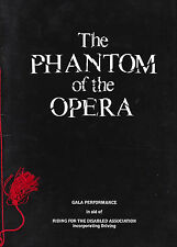 "Michael Crawford ""PHANTOM OF THE OPERA"" Sarah Brightman 1987 Royal Gala Program"