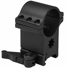 "NcSTAR RB24QR 6 Bolt 1.5"" Quick Release Tactical Weaver Rifle Scope Ring Mount"