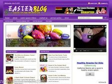 Easter Sunday / Decor / Candy Niche Wordpress Blog Website For Sale!