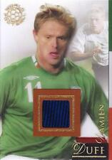 2007 Futera World Football 'Futera Clear' Relic - Damien Duff - #'d 131/250