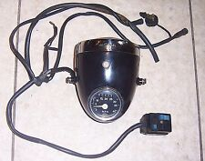 1970s VINTAGE CEV TIPO#105 HEADLIGHT w/CEV 40MPH SPEEDO & 196 SWITCH, EX (#E163)