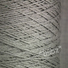 SOFT 4 PLY LINEN VISCOSE YARN 500g CONE 10 BALLS STEEL GREY KNIT CROCHET WEAVE