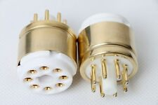 1pc Octal Gold plated tube saver tester adapter for EL34 GZ34 KT88 6V6 5Z3P 6SN7