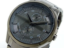 NWT Armani Exchange Men's Watch All Gunmetal SS Bracelet Dial 48MM. AX2119 $200