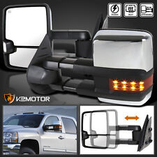 2007-2013 Silverado Sierra Facelift Style LED Power+Heated Towing Side Mirrors