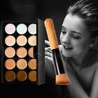 Professionell 15 Farben Make-up Gesicht Concealer Kontur-palette + Pinsel Set