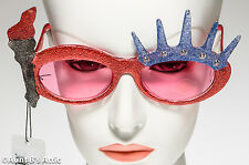 Sunglasses Liberty Glitter Novelty Patriotic Glitter Trimmed Costume Sunglasses