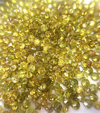 5.0ctw Wholesale Lot of 1.35-1.45mm .01ct each Yellow Natural Loose Diamonds