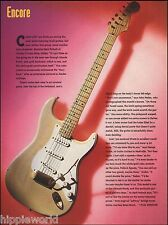 Fender Late 50's Mary Kaye blonde Stratocaster guitar article 8 x 11 pinup