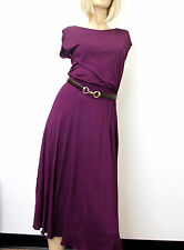 $1695 NEW Authentic Gucci Runway Dress w/Leather Belt, Purple, XS, 277897