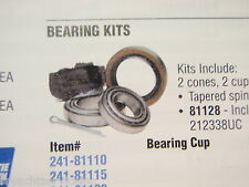 "BOAT TRAILER WHEEL BEARING KIT 241-81120 SPLINDLE AXLE SIZE 1-1/16"" AND 3/4"""