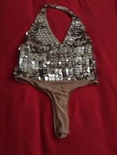 ASOS Halter Neck Body With Silver Scale Embellishment UK12 BNWT