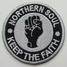 NORTHERN SOUL KEEP THE FAITH Iron On Patch Mod