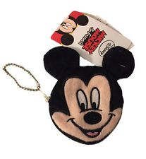 Mickey Mouse Plush Coin Purse Keychain Key Ring