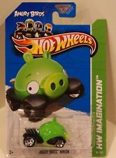 Hot Wheels 2012 New Models Angry Birds Minion Pig GREEN 2013 Card