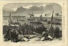 1855 Men Of War's Men Leaving Portsmouth For The Baltic Fleet