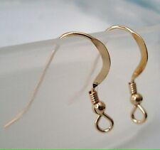10pc 14k yellow Gold Filled Earring Flatten Ear Wire hook Earwire bead coil GE34