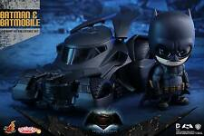 Hot Toys Dawn of Justice Batman vs Superman Batman & Batmobile Cosbaby Set New